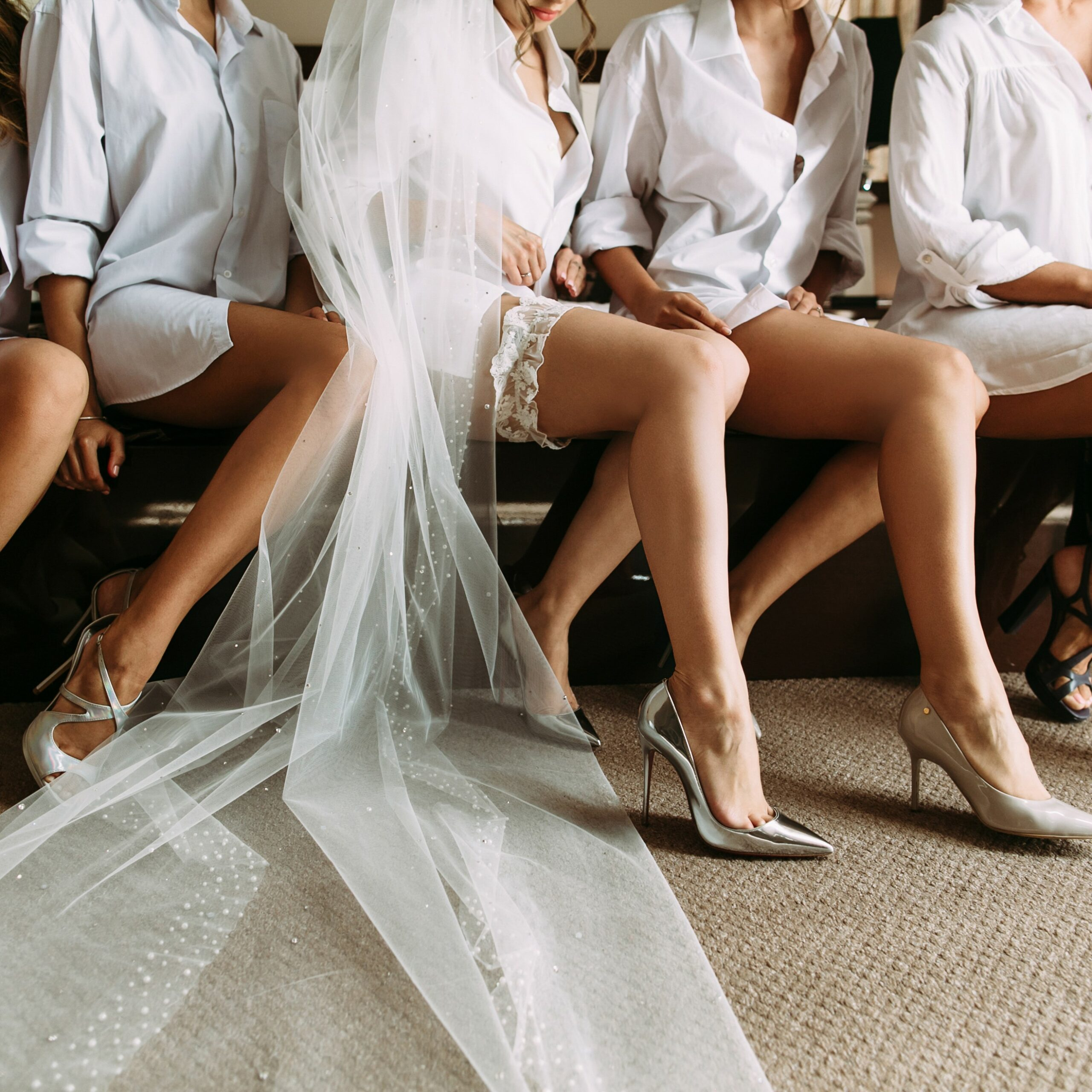Lovely,Legs,Of,The,Bride,And,Her,Friends